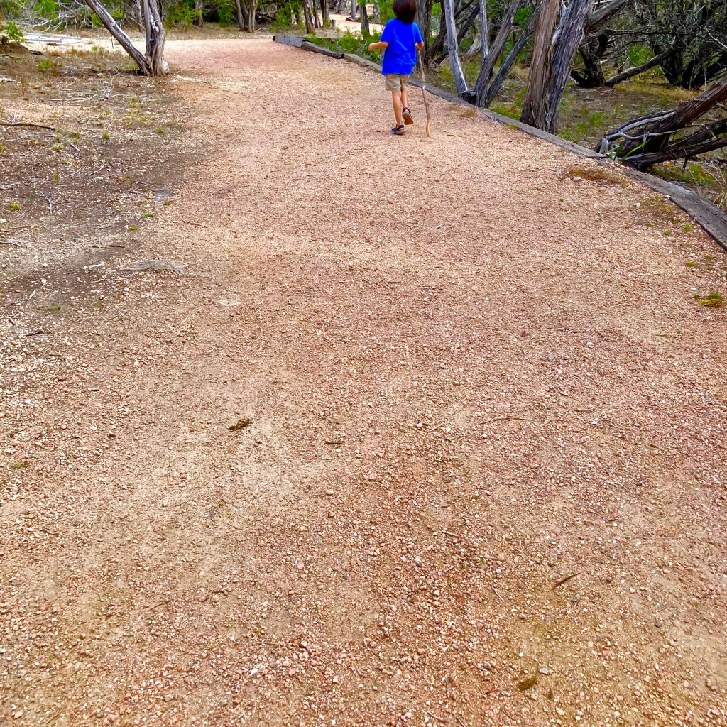 Decomposed granite trail in Kerrville Texas